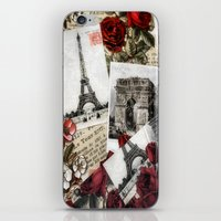 Postcards from Paris iPhone & iPod Skin