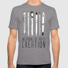 weapons of mass creation Mens Fitted Tee Tri-Grey LARGE