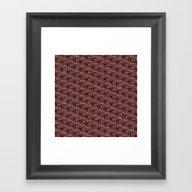 Barrel Of Monkeys Patter… Framed Art Print
