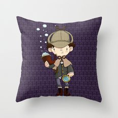 Detective, as a child Throw Pillow