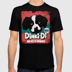 DINKI-DI DOG FOOD Mens Fitted Tee Black SMALL