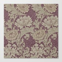Chrysanthemum By William Morris Canvas Print