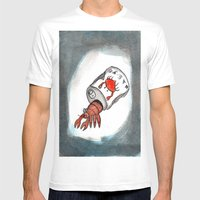 Crab Juice Mens Fitted Tee White SMALL