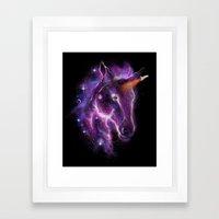galaxy of the unicorn  Framed Art Print