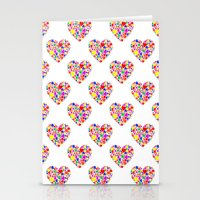 Rainbow Heart Pattern Stationery Cards