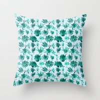 Houseplants All Over The… Throw Pillow