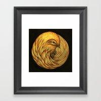 Bird Spiral Framed Art Print