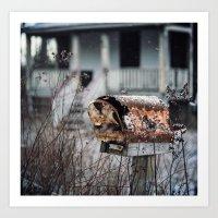 Mailbox Of Rust Art Print