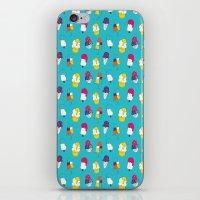 Ice cream pattern - blue iPhone & iPod Skin