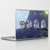 owls Laptop & iPad Skins featuring Owls by biboun