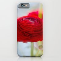 RED RANUNCULUS iPhone 6 Slim Case
