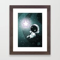 Spaceboy Framed Art Print