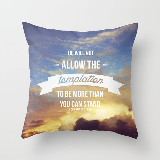 1 Corinthians 10:13 Throw Pillow