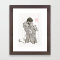 Lovers By The Window Framed Art Print