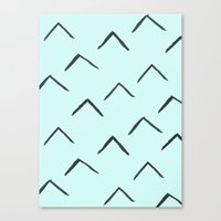 Triangles on mint Canvas Print