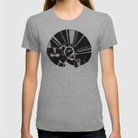 Cats Life: Sleeping Womens Fitted Tee Athletic Grey SMALL