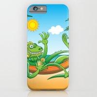 Lazy Iguana Summer On Th… iPhone 6 Slim Case