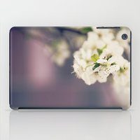White Floret iPad Case