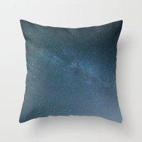 Milky Way Blue Throw Pillow