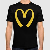 McDonald's MOSCHINO Mens Fitted Tee Black SMALL