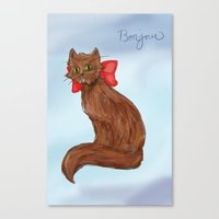 Canvas Print featuring Cat by Suzie