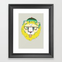 Mr Lion Framed Art Print