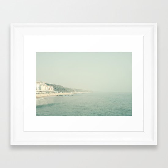 The Seaside in May Framed Art Print
