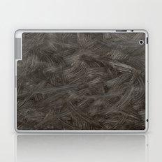 Black And White Brushstrokes Abstract Pattern Modern Laptop & iPad Skin