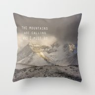 Throw Pillow featuring The Mountains Are Callin… by Guido Montañés
