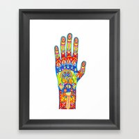 A really colourful hand Framed Art Print