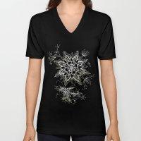 Zendala snowflake denim Unisex V-Neck