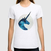 Blue Unicorn Womens Fitted Tee Ash Grey SMALL