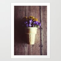Flower Cone III Art Print
