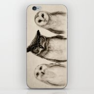 iPhone & iPod Skin featuring The Owl's 3 by Isaiah K. Stephens
