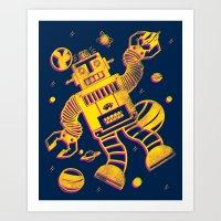 Cosmo Robot Art Print