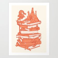 The magic of books Art Print