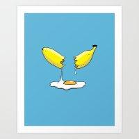 Banana Egg Art Print