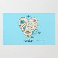 A Map of the Introvert's Heart Rug