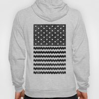 Black Zig Zag Flag Hoody