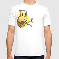 Stop Overthinking This Gosh Darn Crap and Just Draw a Bird! Mens Fitted Tee SMALL White