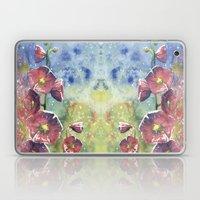 Hollyhocks - Pink Flower… Laptop & iPad Skin