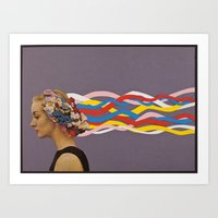 wave Art Prints featuring wave by Canson City