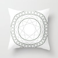 Anime Magic Circle 12 Throw Pillow