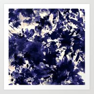 Abstract Floral In Deep … Art Print