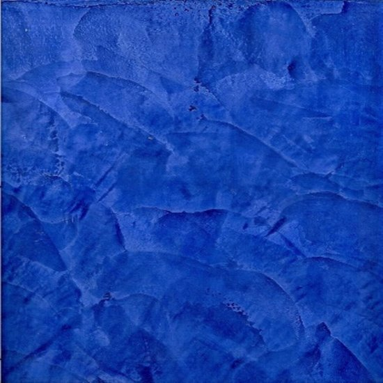 Dark Blue Stucco Art Print