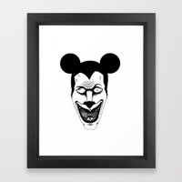 Maniac Mickey Framed Art Print