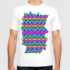 Rainbow Scaffolding White Mens Fitted Tee SMALL