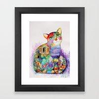 Beautiful Provence Cat Framed Art Print