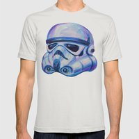 Stormtrooper Baby Mens Fitted Tee Silver SMALL