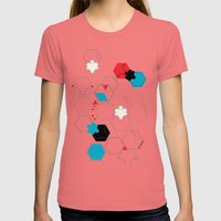 Bumble Bees Womens Fitted Tee Pomegranate SMALL